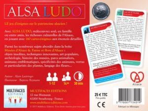 Alsa Ludo : Musées d'Alsace & Faune et flore d'Alsace. Arrière de la boîte