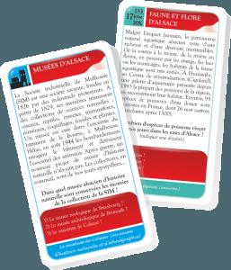 Alsa Ludo : Musées d'Alsace & Faune et flore d'Alsace. Cartes exemples